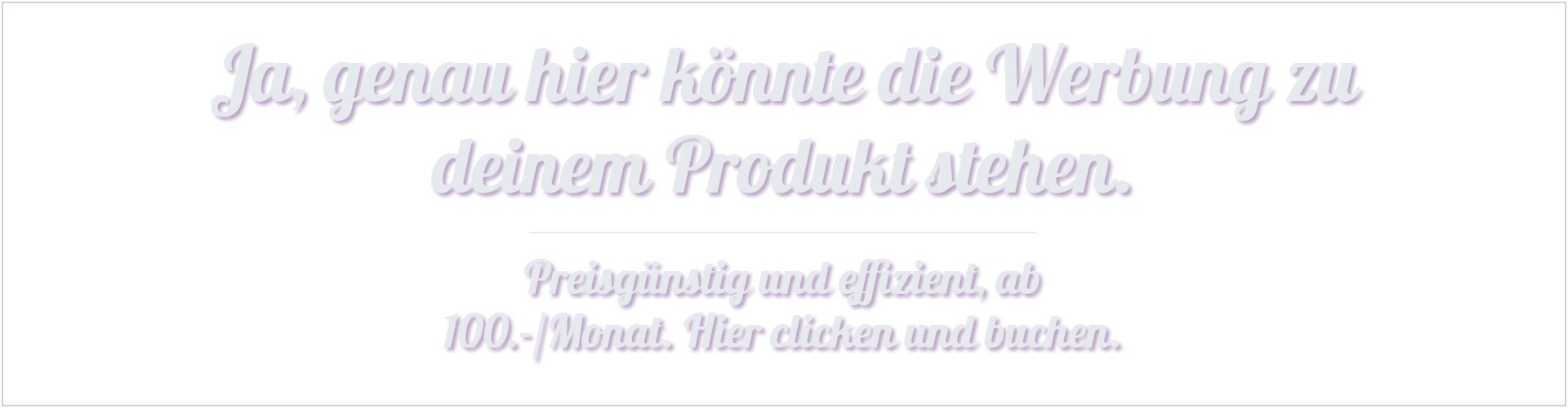 Werbung auf Qurs.ch