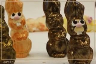 Osterhasen giessen aus Schokolade
