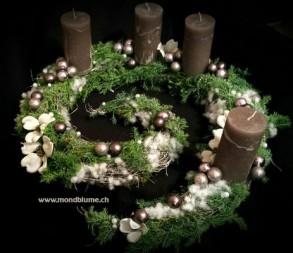 Floristikkurs: Gekringelte  Adventskränze