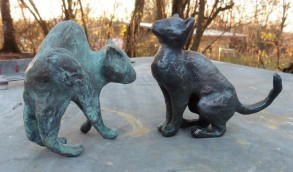 Bronzeguss aus einem Wachsmodell