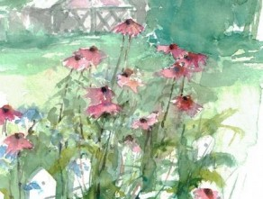 Malkurs: Blumen, Hintergründe, Bauerngärten
