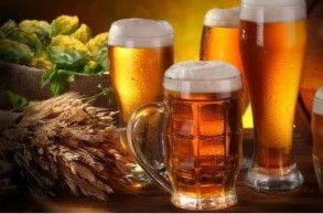 Bier im Teller