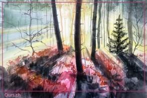 Malkurs: Licht - Schatten - Perspektive in der Landschaft (Weggis)