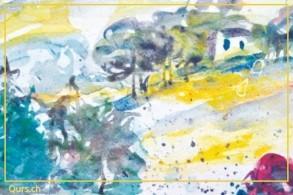 Malkurs:  Mit Farben auf Reise - die Inspiration reist mit.