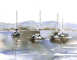 Malkurs: Wasserspiegelungen und Boote